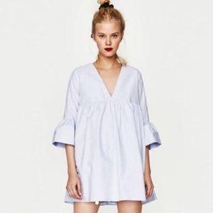 Zara Light Blue Babydoll Romper Jumpsuit